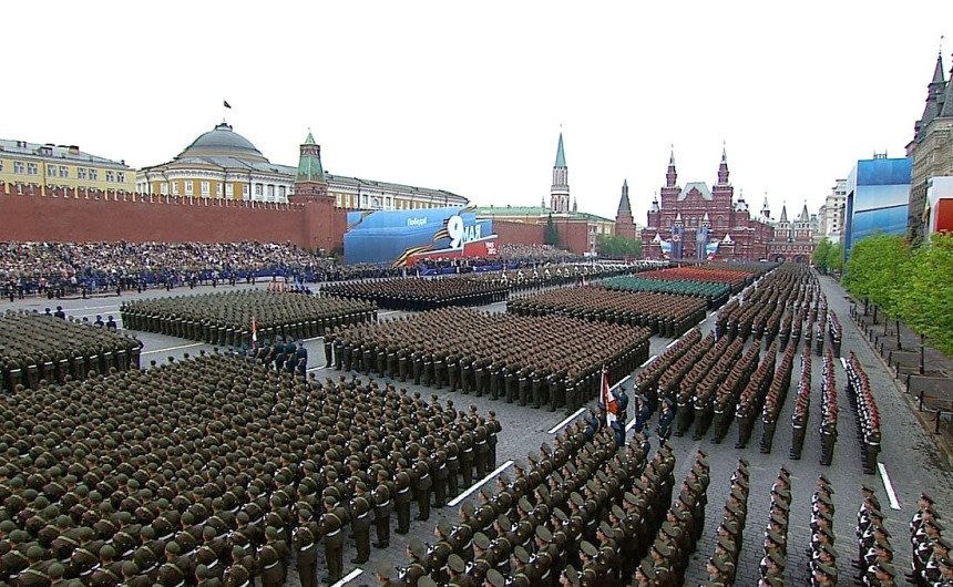 Red Square military parade celebrating the 67th anniversary of Victory in the Great Patriotic War
