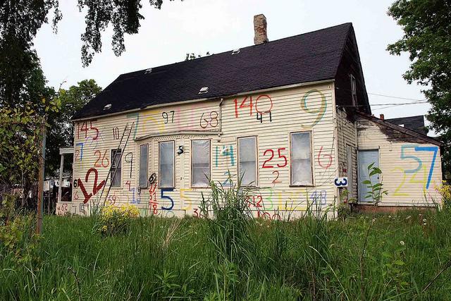 Run down house, poverty