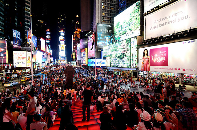 Times Square crowds, Manhattan, NYC