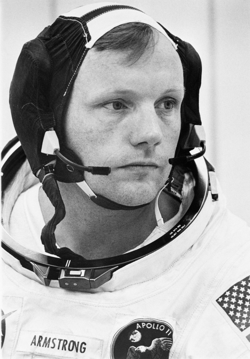Neil Armstrong Wearing Space Suit