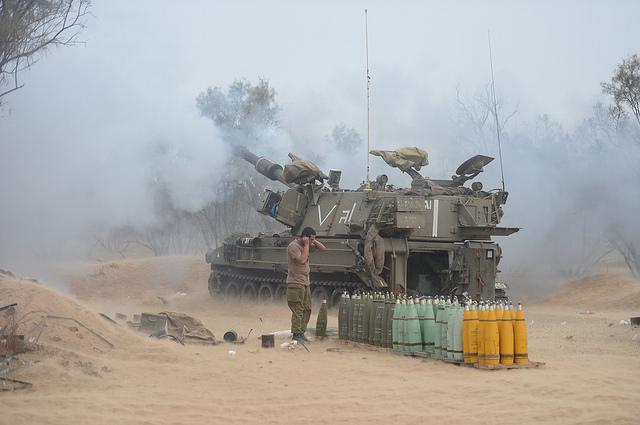 IDF artillery in action